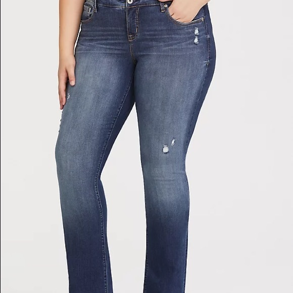Torrid Slim Bootcut Distressed Jeans